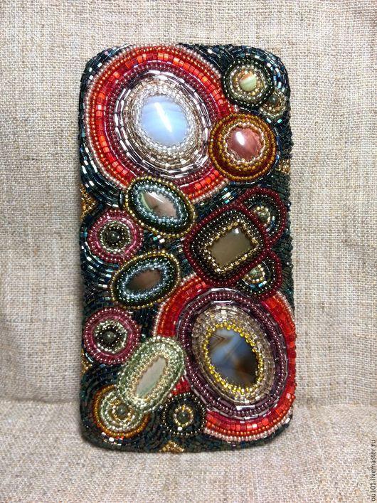 Для телефонов ручной работы. Ярмарка Мастеров - ручная работа. Купить чехол для телефона (чехол для очков). Handmade. Тёмно-зелёный