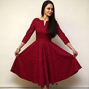 """Одежда ручной работы. Ярмарка Мастеров - ручная работа Платье в ретро стиле  """"Ягода малина"""". Handmade."""