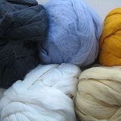 Материалы для творчества ручной работы. Ярмарка Мастеров - ручная работа Вискоза для валяния волокна (8 цветов)вискоза валяние. Handmade.