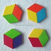 """Куклы и игрушки ручной работы. Ярмарка Мастеров - ручная работа Набор """"Цветные шестиугольники"""" из фоамирана. Handmade."""