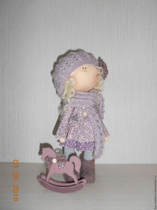 Коллекционные куклы ручной работы. Ярмарка Мастеров - ручная работа. Купить Кукла интерьерная Ириска с лошадкой. Handmade. цвет какао