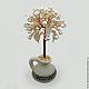 Дерево из жемчуга `Богиня Юлифия` в вазочке из белой глины