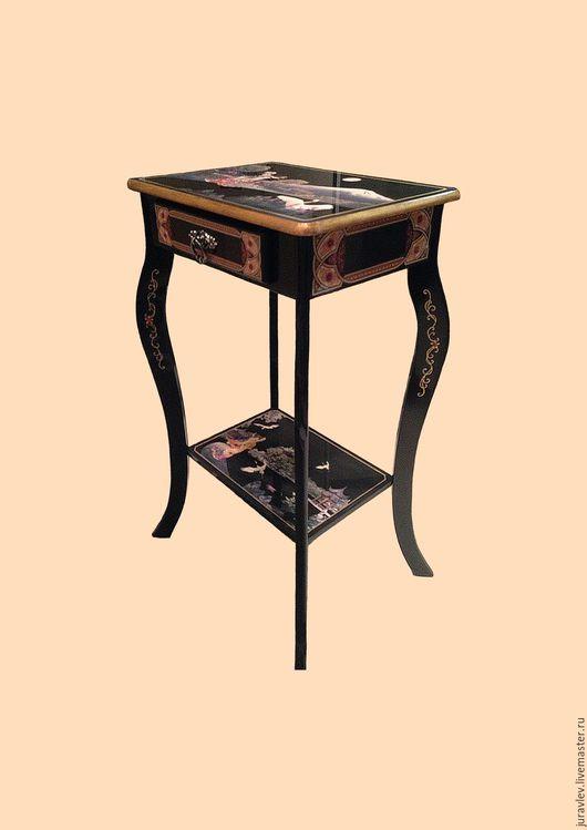 """Мебель ручной работы. Ярмарка Мастеров - ручная работа. Купить """"Японский столик"""". Handmade. Комбинированный, столик журнальный, тумбочка, роспись"""