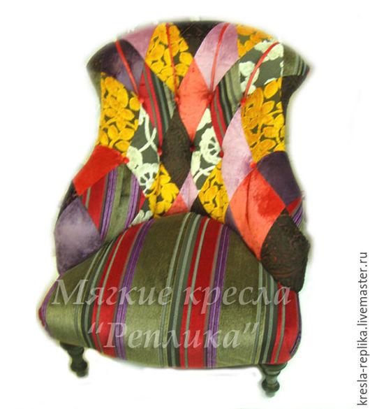 Дизайнерское кресло в стиле пэчворк