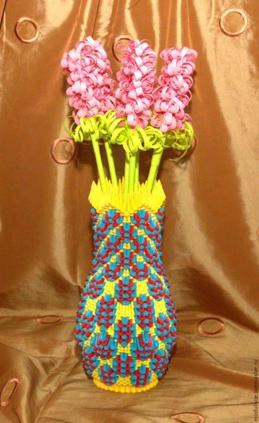 Вазы ручной работы. Ярмарка Мастеров - ручная работа. Купить Цветная ваза ручной работы. Handmade. Комбинированный, ручная работа
