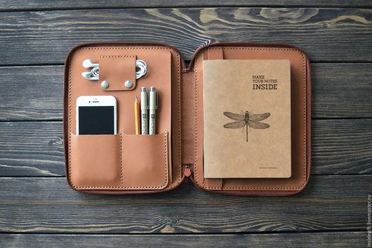 Кошельки и визитницы ручной работы. Ярмарка Мастеров - ручная работа. Купить Папка-органайзер на молнии для iPad mini. Handmade. Однотонный