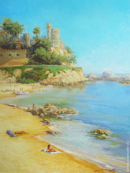 Пейзаж ручной работы. Ярмарка Мастеров - ручная работа. Купить 12 часов.. Handmade. Морской пейзаж, морская тема, пляж
