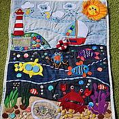 Бизиборды ручной работы. Ярмарка Мастеров - ручная работа Развивающий коврик Море. Handmade.