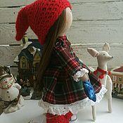 Куклы и игрушки ручной работы. Ярмарка Мастеров - ручная работа Новогодняя кукла гномик с оленем. Handmade.