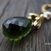 handmade. Livemaster - original item Earrings with ametrines in gilt