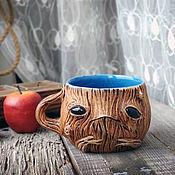 Посуда handmade. Livemaster - original item Mugs and cups: Modest Mandrake, Groot. Coffee mug. Handmade.