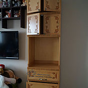 Для дома и интерьера handmade. Livemaster - original item Side Cabinet carved-painted beech with doors and drawers. Handmade.