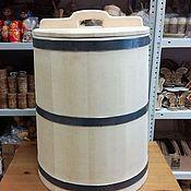 Дача и сад handmade. Livemaster - original item The barrel is made of cedar for pickling 60 l. the water barrel. Handmade.
