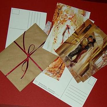 Открытки ручной работы. Ярмарка Мастеров - ручная работа Бульварный роман.Набор открыток. Handmade.