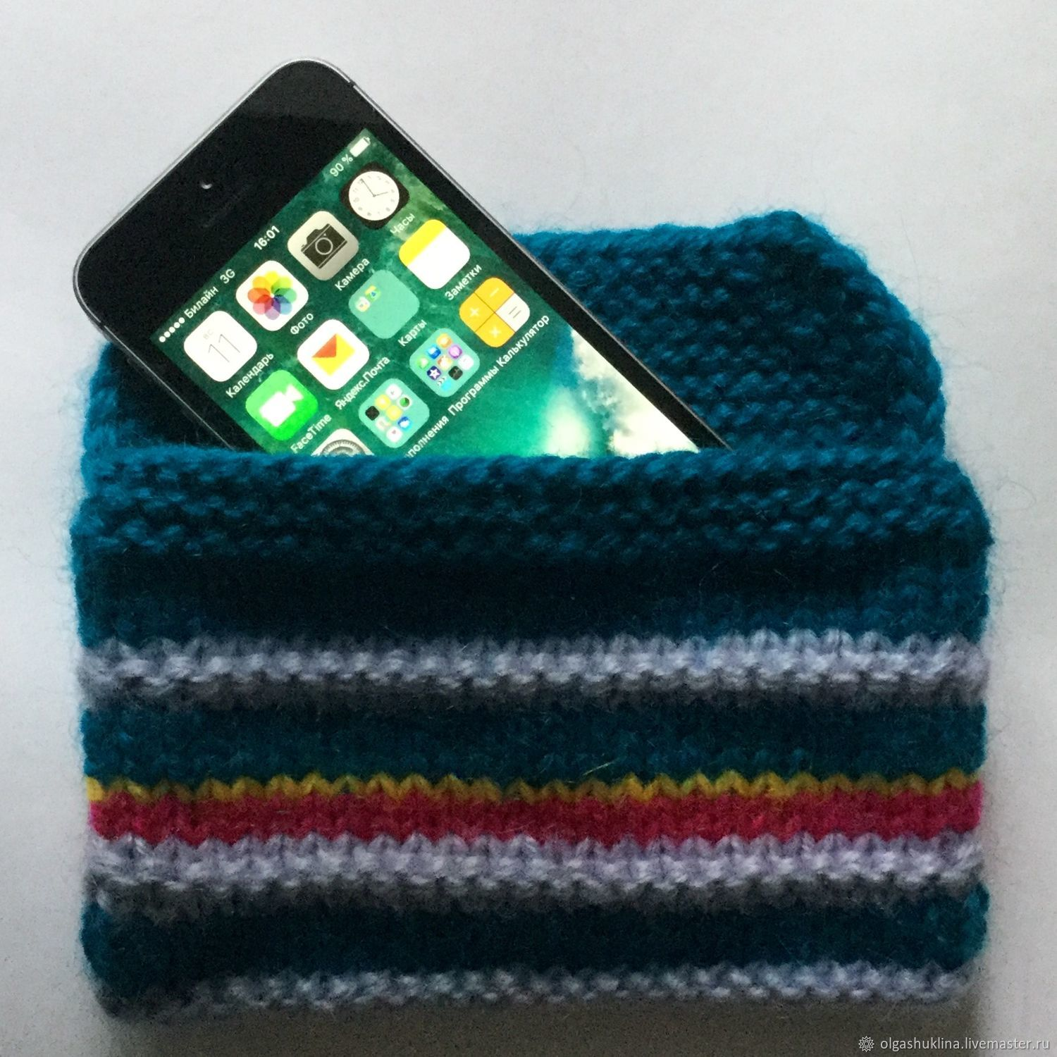 Knitted cover for iphone se 2, 6, 6plus, 7, 7plus, 8, 8plus, x, Covers, Ekaterinburg, Фото №1