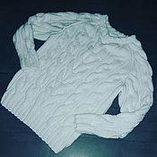 Одежда ручной работы. Ярмарка Мастеров - ручная работа Пуловер вязанный спицами.. Handmade.