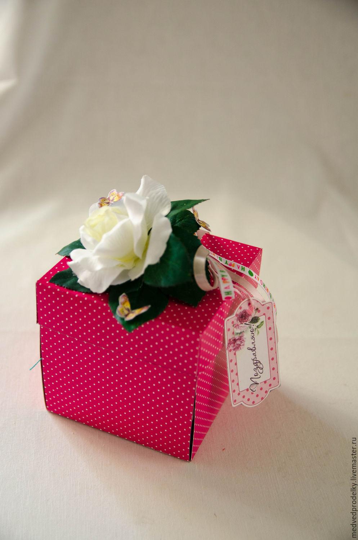 Купить Открытка- коробка с днем рождения Сиренево-желтая 72