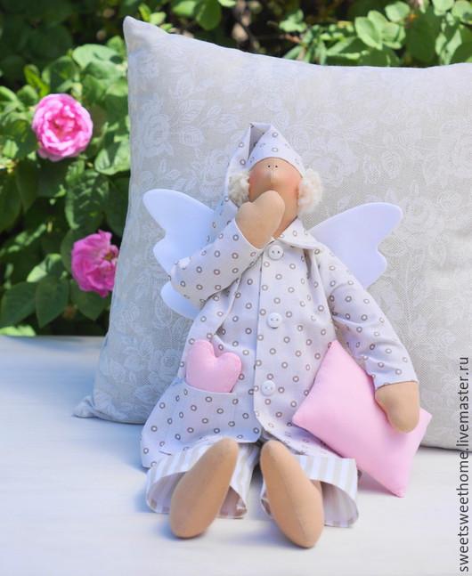 Куклы Тильды ручной работы. Ярмарка Мастеров - ручная работа. Купить Сонный ангел Тильда. Handmade. Бледно-розовый