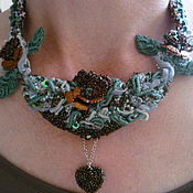 Украшения handmade. Livemaster - original item necklace tape copper-green. Handmade.