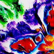 Картины ручной работы. Ярмарка Мастеров - ручная работа Картины: абстракция цветок акрил. Handmade.