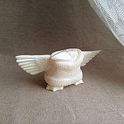 Сувениры и подарки handmade. Livemaster - original item Kutkh - the Creator of the world. Raven from walrus Tusk. Free.. Handmade.
