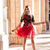 Одежда ручной работы. Ярмарка Мастеров - ручная работа Платье с розами. Handmade.
