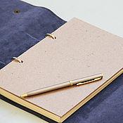 Канцелярские товары handmade. Livemaster - original item Blue Notepad. Handmade.