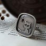 Кольца ручной работы. Ярмарка Мастеров - ручная работа Серебряное кольцо крупное квадратное без камней, кольцо из серебра.. Handmade.