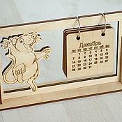 Календари ручной работы. Ярмарка Мастеров - ручная работа Календарь из дерева. Handmade.