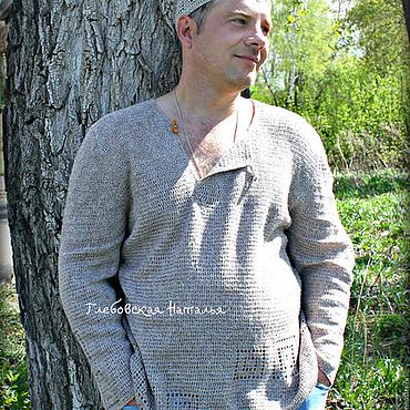 Одежда ручной работы. Ярмарка Мастеров - ручная работа Мужская рубашка   в этно-стиле. Handmade.