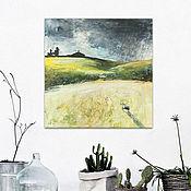 Картины и панно ручной работы. Ярмарка Мастеров - ручная работа Предчувствие ливня. Handmade.