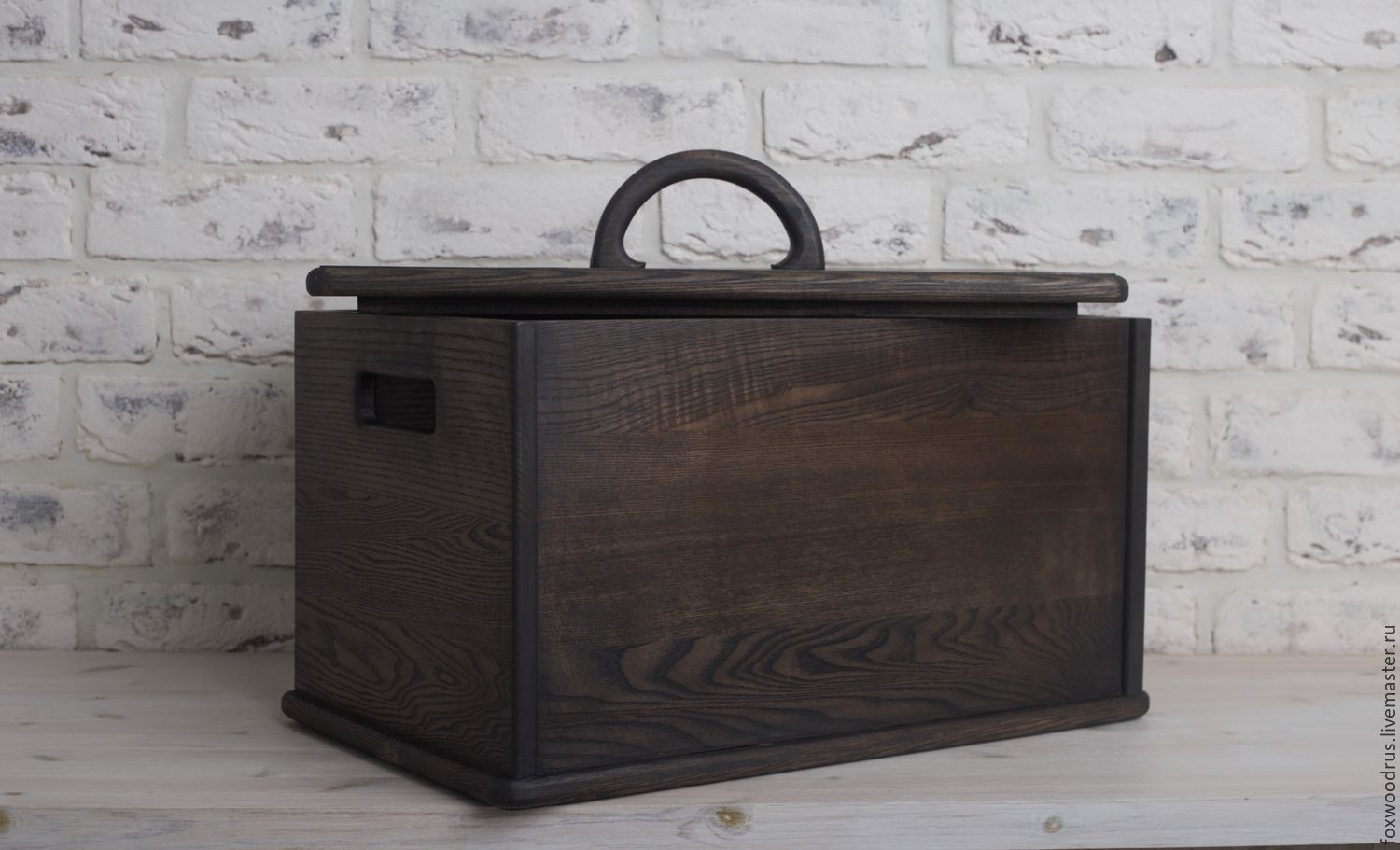 big box for products and bread from the dark ash, The bins, Moscow, Фото №1