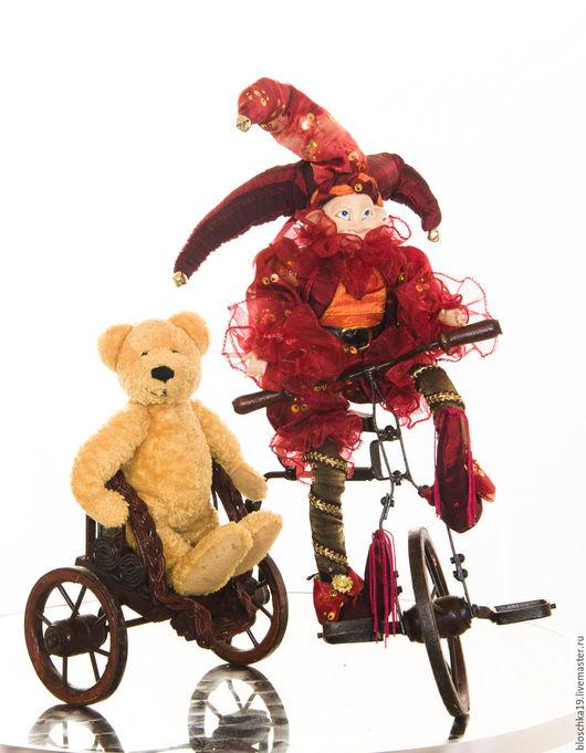 Винтажные куклы и игрушки. Ярмарка Мастеров - ручная работа. Купить Вело карета велосипед велорикша антиквариат для ваших кукол и мишек. Handmade.