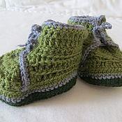 Работы для детей, ручной работы. Ярмарка Мастеров - ручная работа Пинетки-ботинки. Handmade.