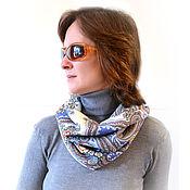 Аксессуары handmade. Livemaster - original item Pavlovoposadskaja Snood from a scarf,