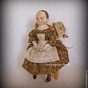 Куклы и игрушки ручной работы. Ярмарка Мастеров - ручная работа Мэри. Мини-кукла в стиле Izannah Walker.. Handmade.