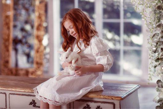 Крестильные принадлежности ручной работы. Ярмарка Мастеров - ручная работа. Купить Крестильное платье Маленькая королева. Handmade. Крестильное платье