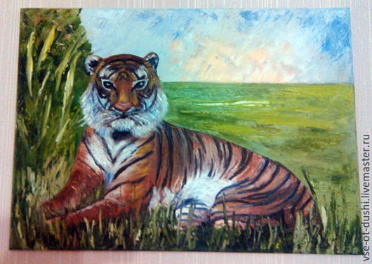 Тигрица на закате
