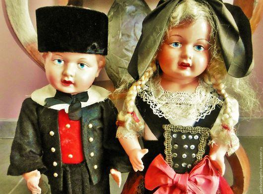 Винтажные куклы и игрушки. Ярмарка Мастеров - ручная работа. Купить Старинные антикварные куклы бутылки целлолуид 30-40 годы ХХ века Франц. Handmade.