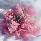 Украшения ручной работы. Ярмарка Мастеров - ручная работа Цветы из шелка. Каламбур. Handmade.
