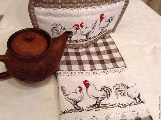 Кухня ручной работы. Ярмарка Мастеров - ручная работа. Купить Набор для кухни в стиле кантри Петушки да курочки. Handmade.