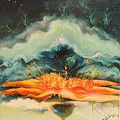 """Картины ручной работы. Ярмарка Мастеров - ручная работа Картина маслом """"музыка цветка """"авторская работа. Handmade."""