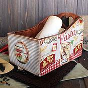 """Для дома и интерьера ручной работы. Ярмарка Мастеров - ручная работа Короб для кухни """"Pasta"""". Handmade."""