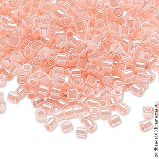 Для украшений ручной работы. Ярмарка Мастеров - ручная работа. Купить MIYUKI DELICA 8/0 DBL 244 ceylon color-lined cotton candy 10gr. Handmade.