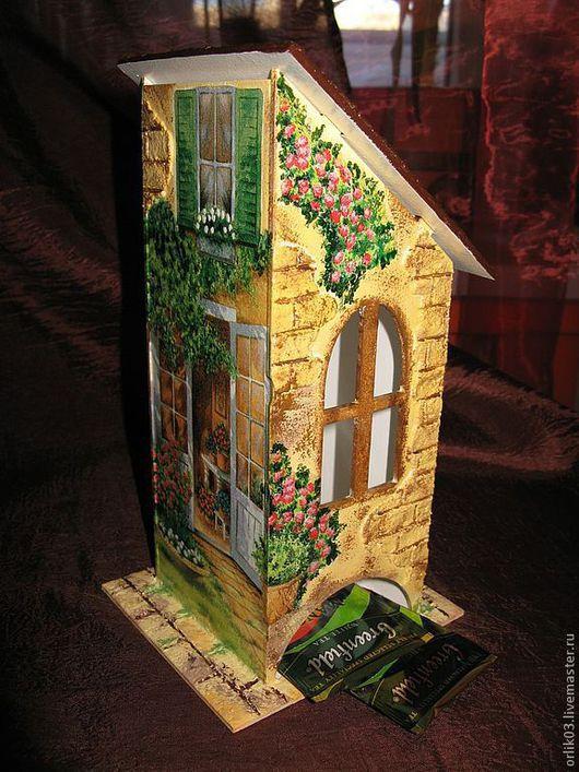"""Кухня ручной работы. Ярмарка Мастеров - ручная работа. Купить Чайный домик """"Цветущий дворик"""". Handmade. Чайный домик, дерево"""