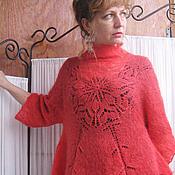 """Одежда ручной работы. Ярмарка Мастеров - ручная работа Пуловер """"Аленький цветочек"""". Handmade."""