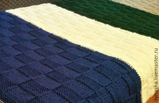 Текстиль, ковры ручной работы. Ярмарка Мастеров - ручная работа. Купить Плед вязаный Загляденье. Handmade. Комбинированный, стильный