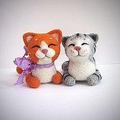 Куклы и игрушки ручной работы. Ярмарка Мастеров - ручная работа котик Васька из шерсти. Handmade.