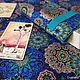 Синяя скатерть для гаданий на Таро с бирюзовой подкладкой. Коврик для гадания. Мастерская Esᴍᴇʀᴇᴇ (Евгения). Ярмарка Мастеров.  Фото №4