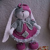Куклы и игрушки ручной работы. Ярмарка Мастеров - ручная работа Зайка кокетка. Handmade.